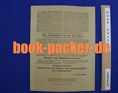 Original Flugblatt Verband der Buchbinder u. Papierverarbeiter (Streik 1923) 2