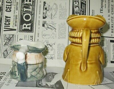 Vintage Lot of 2 Small Toby Style Jugs 2