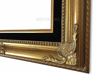 WEST FRAMES ESTELLE Antique Gold Wood Picture Frame with Black ...