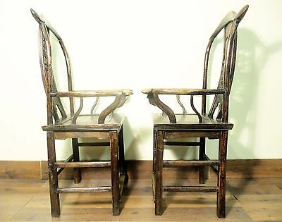 Antique Chinese High Back Arm Chairs (5802) (Pair), Circa 1800-1849 10