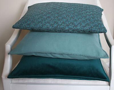 kissen kissenh lle divino 27x43 45x45 samt matt petrol. Black Bedroom Furniture Sets. Home Design Ideas