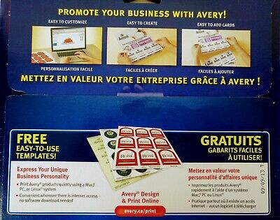 Avery Tear-Away Card Flyers - Mate White AVE16151 -  5 Flyers 120 Cards Ink-Jet 9