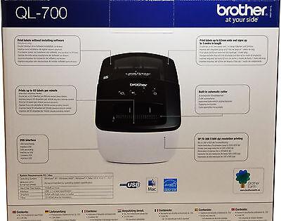 Brother Thermal Label Printer QL-700 QL700 Print Address Labels 2