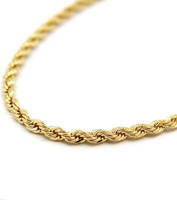 """14k Gold plated rope chain men's women's 24"""" inches necklace free shipping new 2"""