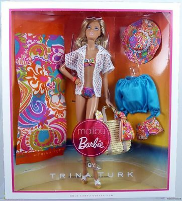 MALIBU BARBIE doll by TRINA TURK Gold Label Adult Collector NEW Mattel 6.200
