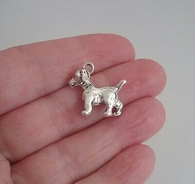 ❤ Spaniel Dog Charms 3D ❤ Pack of 5 ❤ CRAFTING//JEWELLERY MAKING ❤