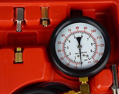 Auto Fuel Oil Injection Pump Flow System Pressure Gauge Test Testing Fault Kit