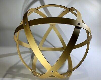 Genesa Crystal diametro 31 cm alluminio satinato oro profilo 2 cm. 2