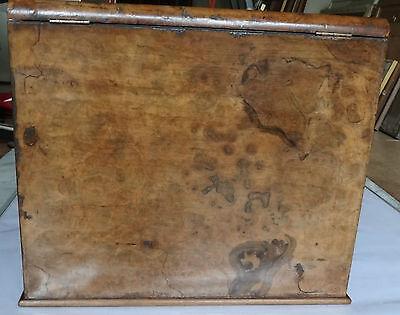 Antique 19Th Century Burr Walnut Stationery Box - Stylish & Original For A Loved 9