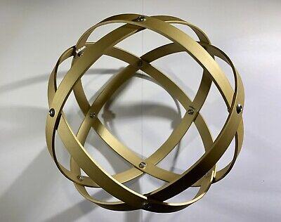 Genesa Crystal diametro 16 cm alluminio satinato oro profilo 1,2 cm 2