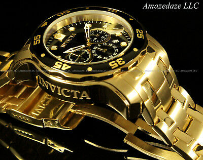 NEW Invicta Men's Pro Diver Scuba Chronograph Stainless Steel Black Dial Watch!! 4