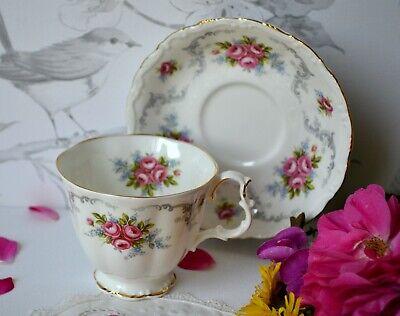 Vintage Royal Albert England TRANQUILITY Tea Cup Teacup Saucer Set, bone china 2