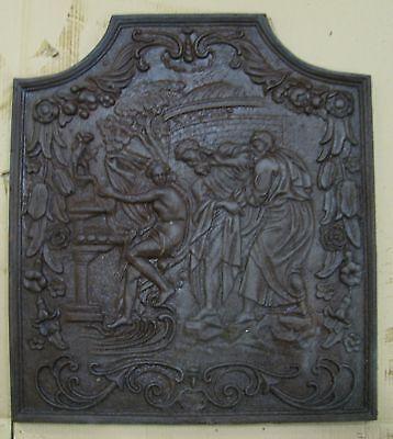 Kaminplatte Ofen Antikes Motiv mit Engel Putte 2