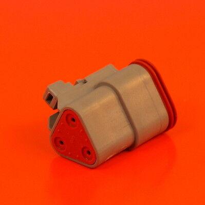 Deutsch DTM Series 3 Way Plug Connector Kit DTM06-3S C//W Pins /& Wedglock DTM063S