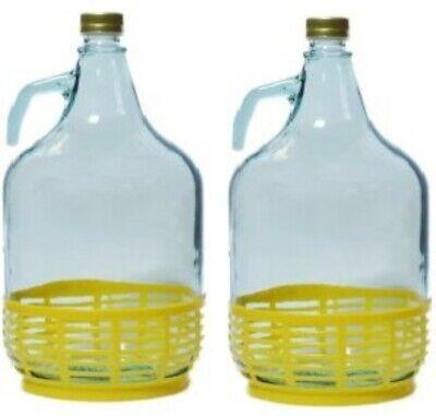 2 Stück 5L Gärballon Flasche Glasballon Weinballon Glasflasche Wein machen 2