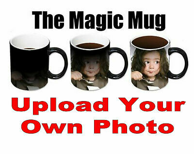 New Personalised Heat Colour Changing Gift Magic Mug Image Photo Chrismtas Cup 4
