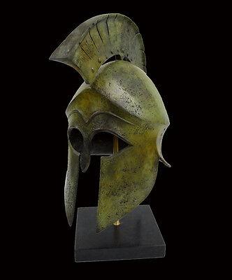 Helmet Solid Bronze Ancient Greek replica artifact 4