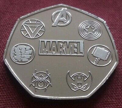 Unofficial Marvel Rare 50p Coin Pence Shape Custom Made Solid Token Stan Lee 7