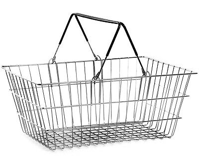 2 Handle Black Wire Shopping Basket Retail Supermarket Use Hand Carry Mesh 3