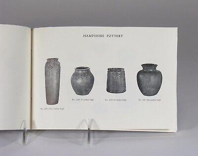 Hampshire Pottery catalog 28 page shape book 1971 reprint Arts & Crafts Keene NH 4