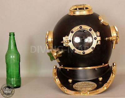US Navy Mark V Nautical Marine Antique Brass Powder Coating Divers Diving Helmet 3