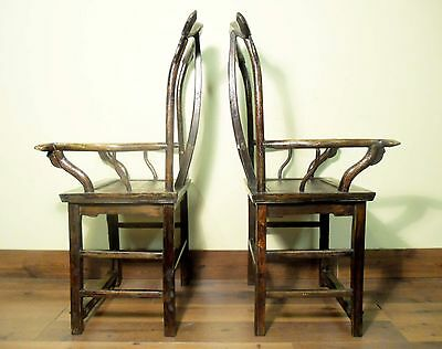 Antique Chinese High Back Arm Chairs (5802) (Pair), Circa 1800-1849 12