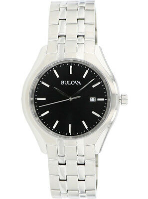 Bulova Men's 96B265 Quartz Black Dial Silver-Tone Bracelet 41mm Watch 2