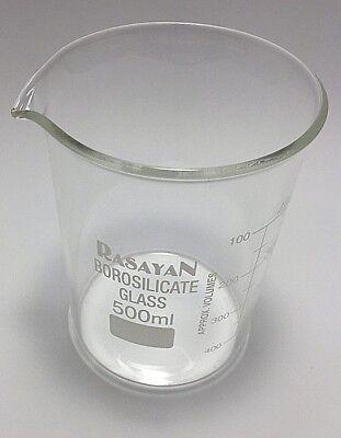 Glass Beaker Kit Graduated Research Grade Borosilicate, 500ml x 2 2