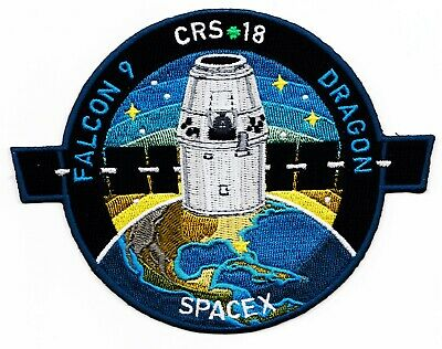 NEW CRS-18 - SPACEX ORIGINAL FALCON-9 DRAGON F-9 ISS NASA RESUPPLY Mission PATCH 4