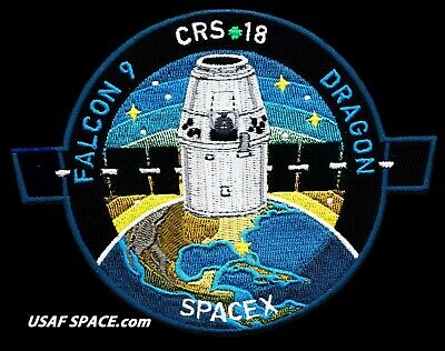 NEW CRS-18 - SPACEX ORIGINAL FALCON-9 DRAGON F-9 ISS NASA RESUPPLY Mission PATCH 10