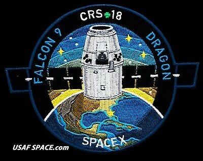 NEW CRS-18 - SPACEX ORIGINAL FALCON-9 DRAGON F-9 ISS NASA RESUPPLY Mission PATCH 9