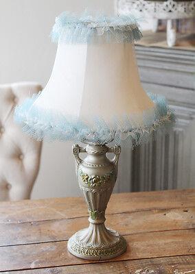 Antique Cast Iron Barbola Urn Lamp & Shade 3