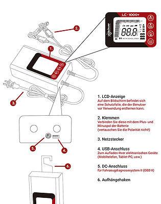 Lihtium Blei Batterie Ladegerät Roller Auto LKW Wohnmobil Smart Battery Charger
