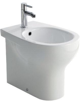 Sanitari bagno vaso wc water sospeso,con coprivaso compatibile,Grace Globo bianco