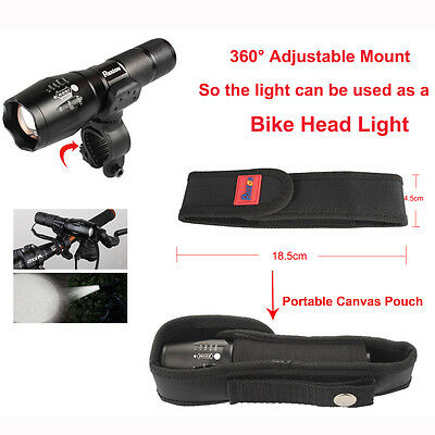 led flashlight le militaire cree t6 rechargeable torche 18650 battery bo 238 te eur 11 95