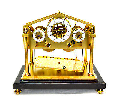 8 Day Miniature English William Congreve Rolling Ball Clock with Marble Base 4