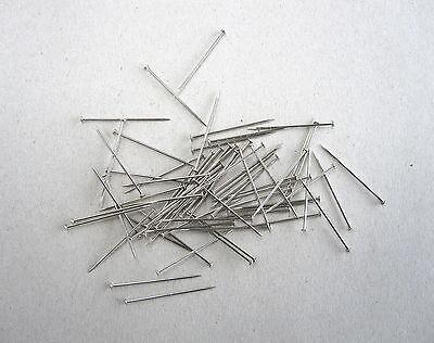 Stecknadeln, Messing-Stecknadeln, 500 g (ca.3600 Stck.), 30 x 0,8mm, vernickelt