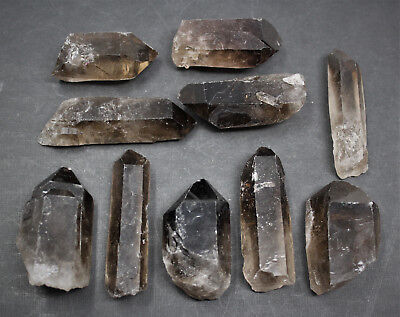 "Large Smokey Quartz Crystal Point (1.5"" - 3"") Rough Natural Smoky Wand Specimen 3"