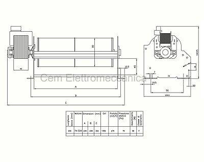 Ventilatore Tangenziale per stufa a pellet EVA CALOR - EDDY - 77 WATT 3