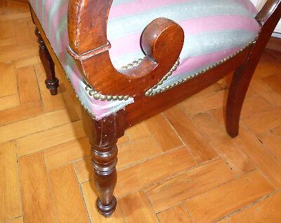 Ausgefallener alter Sessel Spätbiedermeier um 1850 10