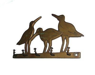 A MARVELOUS & Old  hand carved brass 3 LOVELY BIRDS designed coat hook frm INDIA 2