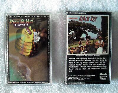 4 Hawaiian Cassette Tapes Pick a Hit Hawaii & Slack Key Volume II Don Ho Aloha 5