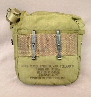 VIETNAM US ARMY USMC M-1967 2 Quart Collapsible Canteen Cover 2nd ...