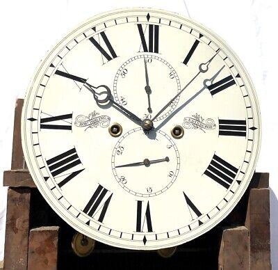 ~ Antique Inlaid Mahogany Longcase Grandfather Library Clock : DARLING EDINBURGH 6
