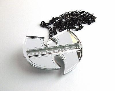Wu Tang Clan Halskette Laser geschnitten gravierten Spiegel Kunststoff 3