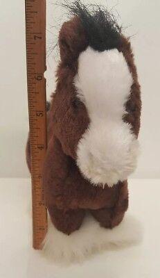 "Ganz Clydesdale Horse Stuffed Animal 8/"" Brown Lil Kinz Webkinz Plush"