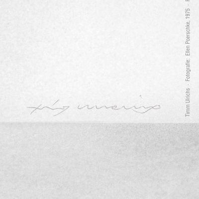 Ich kann keine Kunst mehr sehen! A1-Plakat 1975/2002, handsign. Timm Ulrichs 2