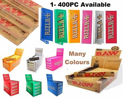 Raw Classic Rizla King Size Slim 110mm Natural Unrefined Rolling Papers Full rzP 2