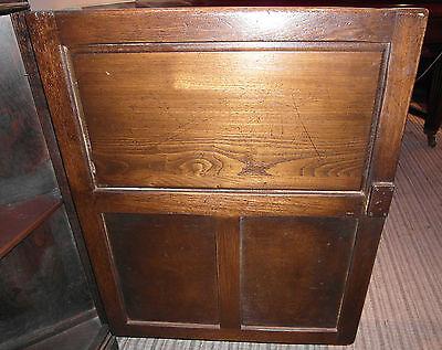 Vintage Jay.c. Distress Oak Corner Cabinet 8