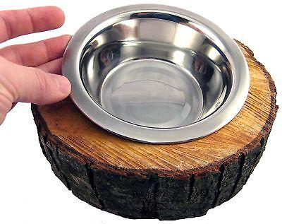 2er Set Hunde Katze Futternapf Freßnapf Wassernapf Baumscheibe Holz Edelstahl 3